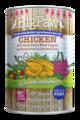 全国控价天然美味系列-大罐装 英国大小手鸡肉+水果蔬菜狗罐头  390g
